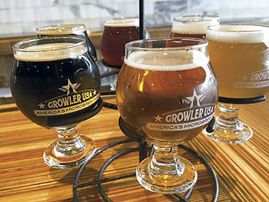 Glassware that keeps a 3/4-inch head on the beer earns preferential treatment at Growler USA.