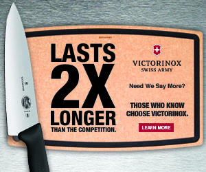 Victorinox Swiss Army Cutlery: Lasts two times longer than the competition. Those who know choose Victorinox. Learn more.