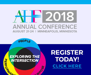 AHF Annual Conference 2018. August 21-24, Minneapolis, Minnasota. Register Today!