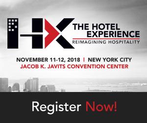Reimagining Hospitality. HX, The Hotel Experience. November 11-12, 2018. Jacob K. Javite Convention Center, New York City. Register Now.