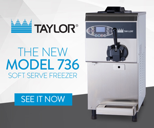 Taylor's New model 736 Soft Serve Freezer. See it now.