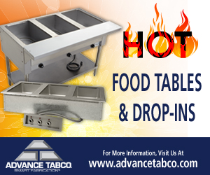 Advance Tabco HOT Food tables and Drop-Ins. Visit our website to find out more.