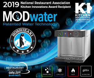 Hoshizaki MODwater Patented Water Technology. 2019 National Restaurant Association Kitchen Innovations Award Recipient. Find out more.