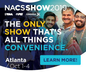 NACS Show 2019. October 1-4, Atlanta. The only show that's all things convenience. Register now.