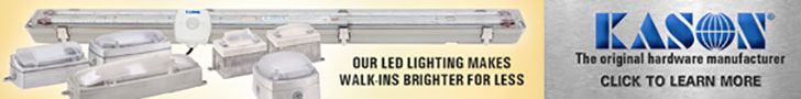 Kason: Our LED lighting makes walk-ins brighter for less. Kason-The original hardware manufacturer. Click to learn more.