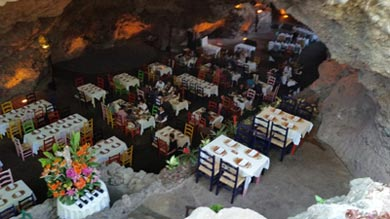 La Gruta restaurant resides in a cave in Mexico