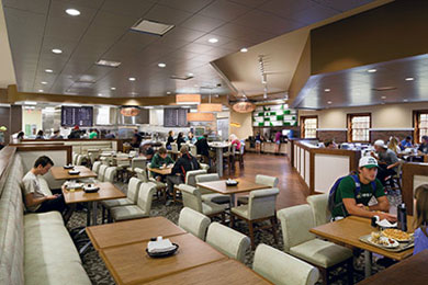 Seating at Carver's Cut adds an upscale touch to the ambiance. Photograph by Scott Pease.