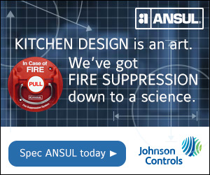 ANSUL. Kitchen design is an art. We've got Fire Supression down to a science. Spec ANSUL today. By Johnson Controls.