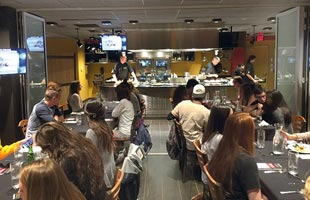 Students enjoy the programs at the University of Missouri's teaching kitchen. Two popular events include the Culinary Discovery Series dinners and hands-on Culinary Nutrition Series cooking classes. Photo courtesy of the University of Missouri