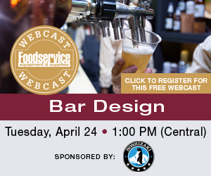 Bar Design Webcast. Tuesday, April 24. 1:00 PM Central. Click to register for this FREE webcast.