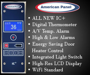 American Panel.All new I.C.+, Digital thermometer, A/V Temp. Alarm, High and Low alarms, Energy saving doorheater control, integrated light switch, high resolutyion L.E.D. display, WiFi standard. Find out more.