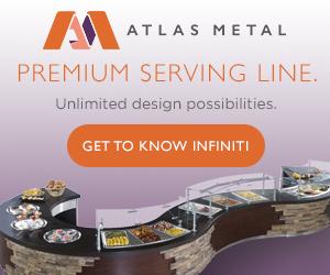 Atlas Metal Premium Serving Line. Unlimited design possibilities. Get to know infiniti.