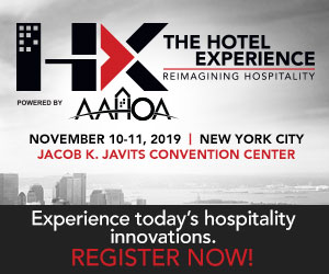 HX, The Hotel Experience. November 10-11, 2019, Jacob Javits Convention Center, New York City. Experience today's hospitality innovations. Register Now!