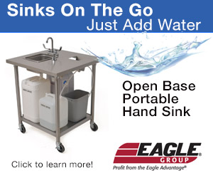 Eagle Group Open Base Portable Hand Sinks. Sinks on the go, just add water. Click to learn more!