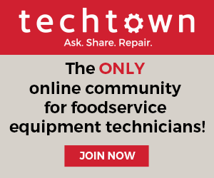 Tech Town: The ONLY online community for foodservice equipment technicians!