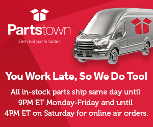 PartsTown - All in-stock parts ship same day until 9PM ET Monday-Friday and until 4PM ET on Saturday for online air orders.
