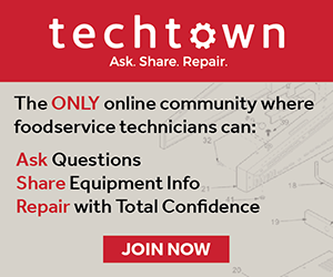 TechTown: The ONLY online community where foodservice techs can ask questions, share equipment info, and repair with total confideence -> Join Now