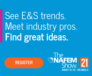 The NAFEM Show. August 26-28, Orlando, Florida. See E&S trends, meet industry pros, find great ideas. Register now.