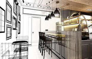 restaurant design concept to finished product