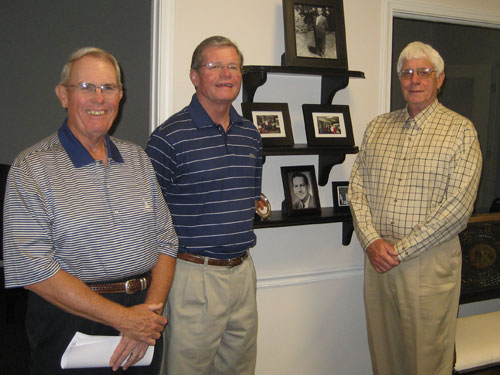 Longtime business colleagues and friends (from left): Bill Wolfe, executive vice president; Jerry Greene, president; and Ollie Wilkes, vice president.