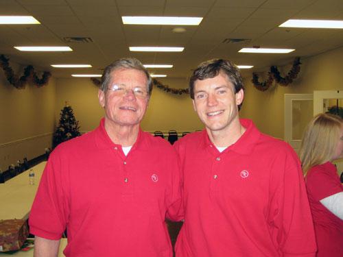 Jerry Greene (left), president of Hotel and Restaurant Supply; and Mason Greene his son Mason Greene.