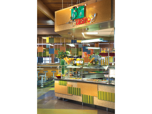 B's Bistro is a Euro-station concept with display cooking and global cuisines. Staff use the convection ovens near B's Bistro to heat entrees and cook bacon, biscuits and sausage.