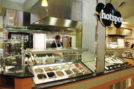 At Hotspot, customers select and place ingredients into bowls and pass them to a cook who stir-fries the ingredients and adds customers' favorite sauces.