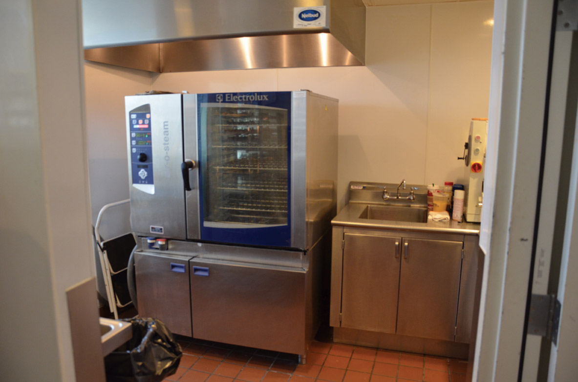 The combi oven in the pantry area bakes cookies and other desserts and breads, including the restaurant&#39;s special truffle flatbread.