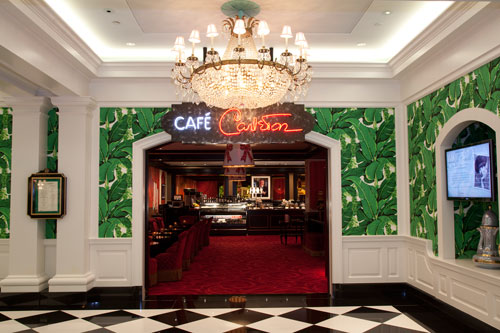 Café Carleton provides a traditional coffee house menu enhanced with the luxuries of Europe and the polish of the Greenbrier.