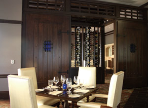 deep blu's private dining room at Wyndham Grand