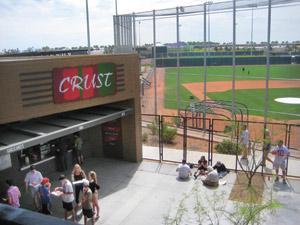 Crust is Salt River Fields' gourmet pizza bar.