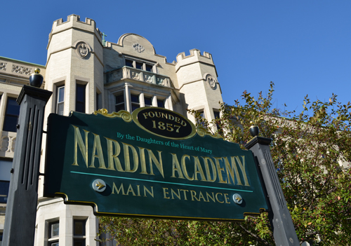 Nardin Front View with Sign