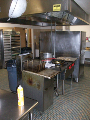 Kitchen View with Fryer