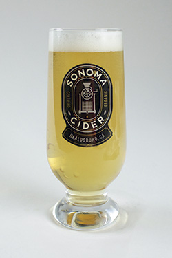 sc glass with cider