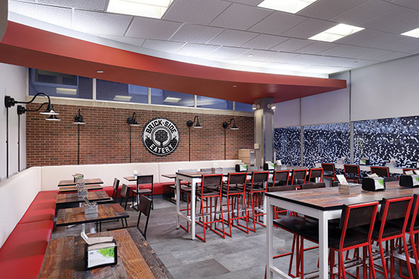 UPMC Introduces A CasualService Restaurant Foodservice Equipment - Restaurant community table