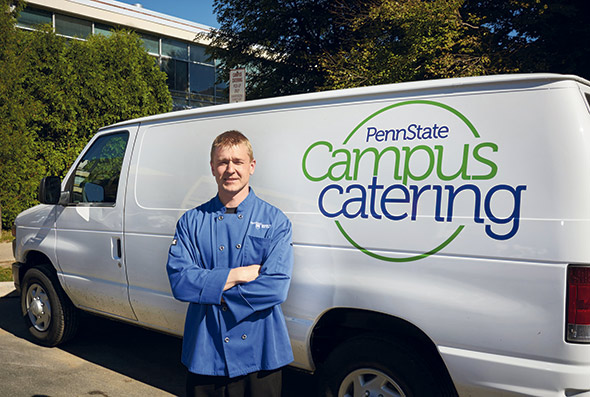 catering Penn State Kroboth with delivery truck