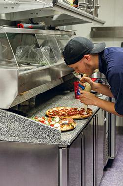 Rotolo pizza dressing