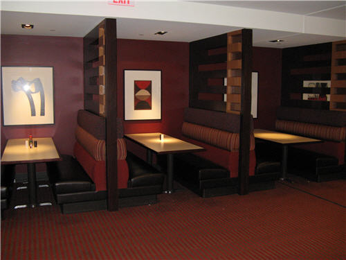 Caf Presbys seating areas were renovated in 2006 for a more-comfortable environment.