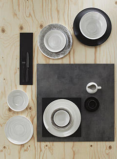 Ripple Grey Tableware
