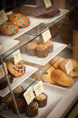 The baked goods at Jazzman's Café are prepared in an on-site central kitchen and transported to its restaurant site.