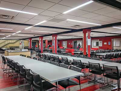 Linn-Mar dining-area archits