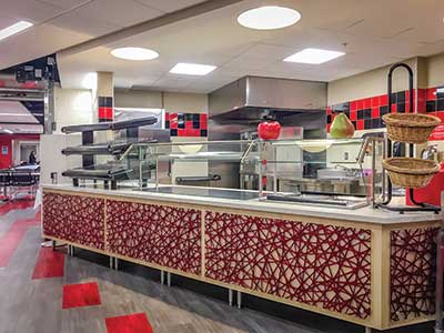 Linn-Mar pizza-area archit