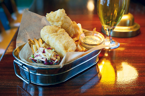 Beer Battered Fish and Chips Joel Benjamin