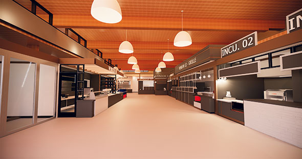 BIM Food Hall Ricca Design