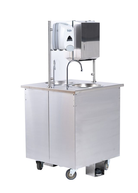 Vollrath PRO 1 sink cart 3 qtr left