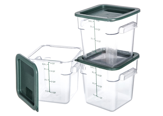 Square Polycarbonate Storage Containers