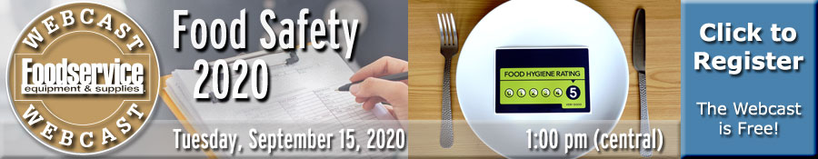 Food Safety 2020 Webcast - Tuesday, September 15, 2020 at 1:00 p.m. (central)